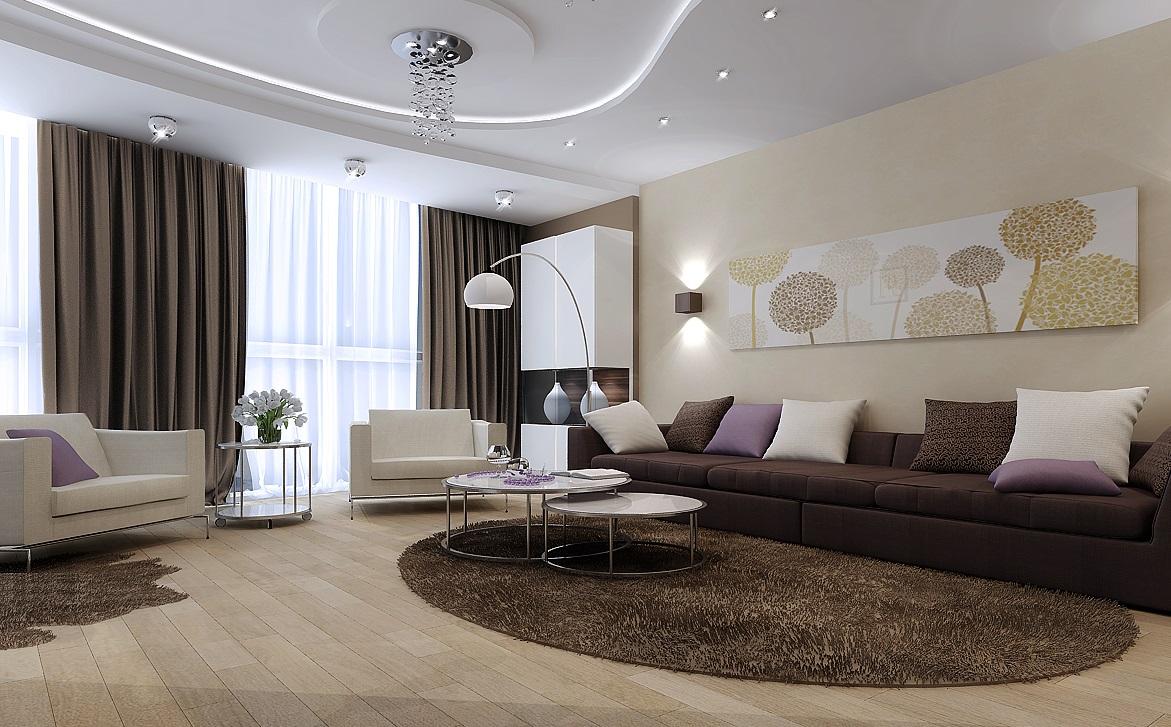 Монтаж освещения на гипсокартонной обшивке помещения